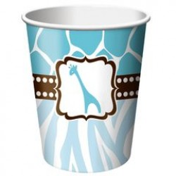 Wild Safari Blue 9oz Paper Cup, 8pcs