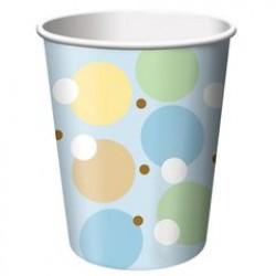 Tiny Toes - Blue 9oz Paper Cup, 8pcs