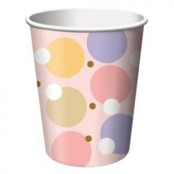 Tiny Toes - Pink 9oz Paper Cup, 8pcs