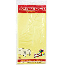 "Yellow Rectangular Tablecover 54"" x 108"""