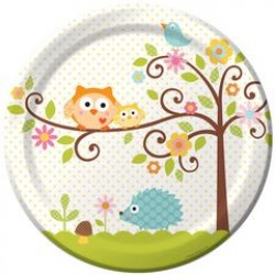 "Happi Tree 9"" Paper Plate, 8pcs"