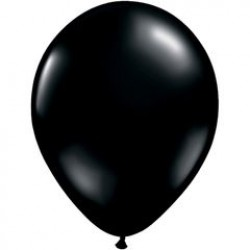 "11"" Round Onyx Black Latex Balloon (with helium)"