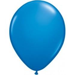 "11"" Round Dark Blue Latex Balloon (with helium)"