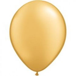 "11"" Round Gold Latex Balloon (with helium)"