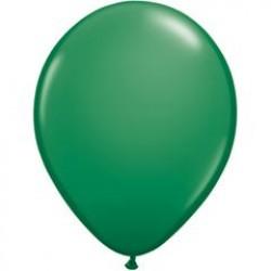 "11"" Round Green Latex Balloon (with helium)"
