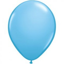 "11"" Round Pale Blue Latex Balloon (with helium)"