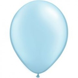 "11"" Round Pearl Light Blue Latex Balloon (with helium)"