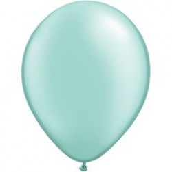 "11"" Round Pearl Mint Green Latex Balloon (with helium)"