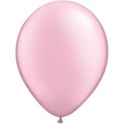 """11"""" Round Pearl Pink Latex Balloon (with helium)"""