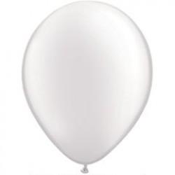 "11"" Round Pearl White Latex Balloon (with helium)"