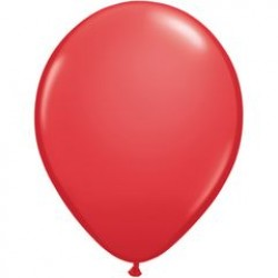 "11"" Round Red Latex Balloon (with helium)"