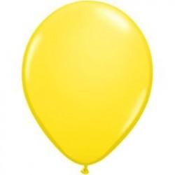 """11"""" Round Yellow Latex Balloon (with helium)"""