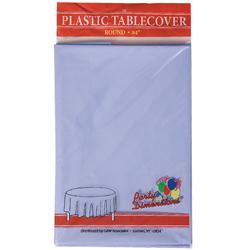 "Hydrangea Round Plastic Tablecover 84"""