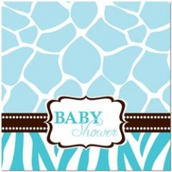 Wild Safari Blue Napkin 32.7 x 32.3 cm, 16 pcs