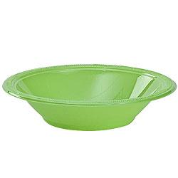 Lime Green 12oz Plastic Bowl, 12pcs