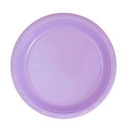"Hydrangea 7"" Plastic Plate, 15pcs"