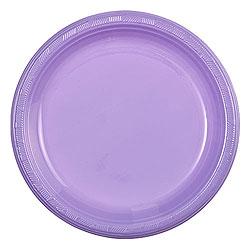 "Hydrangea 9"" Plastic Plates, 10pcs"