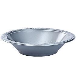 Silver 12oz Plastic Bowl, 12pcs