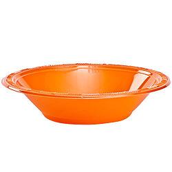Orange 12oz Plastic Bowl, 12pcs