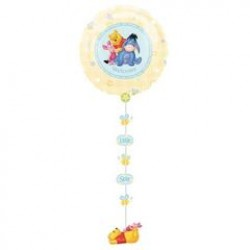 Winnie the Pooh Group Welcome Baby Drop-A-Line Foil Balloon