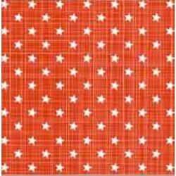 White Stars on Red Napkin 33 x 33cm, 20pcs