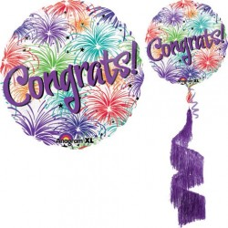 "Congrats Coil Tail AirWalker Balloon - 31""W x 70""H"