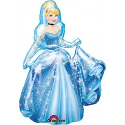 "Disney Princess Cinderella Airwalker Foil Balloon - 30""W x 48""H"