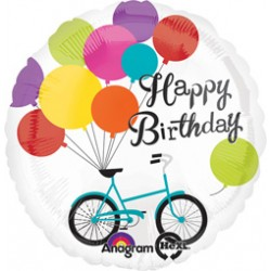 "Birthday Bike 28"" Foil Balloon"