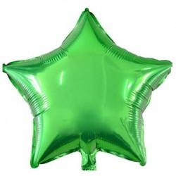 "19"" Star Metallic Green Foil Balloon"