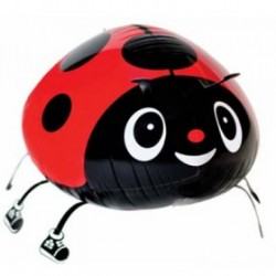 "Animal Walking Balloon - Red Beetle 18""(W) x 10""(H)"