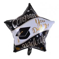 "Graduation 22"" Star Foil Balloon"