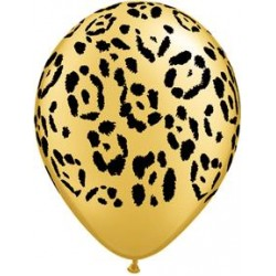 "11"" Round Safari - Leopard Spots Latex Balloon (with helium)"