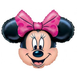 "Minnie Mouse Smiling Face Foil Balloon 36"" (W) x 29"" (H)"