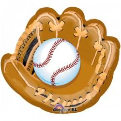 """Baseball and Glove 25"""" Foil Balloon"""