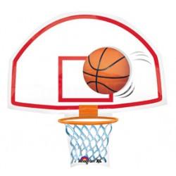 "Swoosh Basketball & Backboard 26"" Foil Balloon"