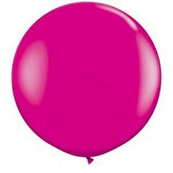 "36"" Round Wild Berry Latex Balloon (with helium)"