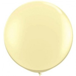 "36"" Round Ivory Silk Latex Balloon (with helium)"