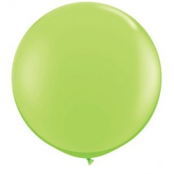 "36"" Round Lime Green Latex Balloon (with helium)"