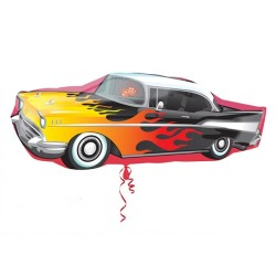 "50's Rockin' Car Foil Balloon - 35""W x 13""H"