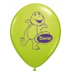 "Barney 11"" Round Green Latex Balloon (with helium)"