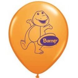 "Barney 11"" Round Orange Latex Balloon (with helium)"