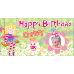 Fairy Personalized Vinyl Banner with Photo