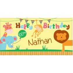 Jungle Personalized Vinyl Banner