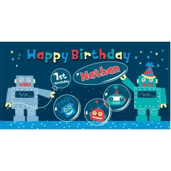 Robot Personalized Vinyl Banner