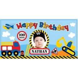Transport Personalized Vinyl Banner with Photo