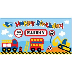 Transport Personalized Vinyl Banner
