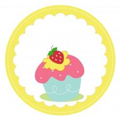 """Guest Name Sticker -  Cupcake 3"""", 24pcs"""