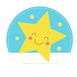 "Guest Name Sticker - Blue Star 3"", 24 pcs"