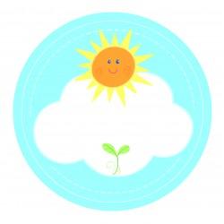 "Guest Name Sticker - Blue Sunshine 2.5"", 24pcs"