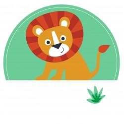 """Guest Name Sticker - Jungle 3"""", 24 pcs"""